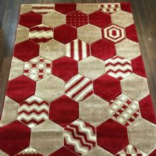 Rugs Approx 6x4Ft 120cmx160CM Carved Rugs Top Quality Red/Beige New Designs